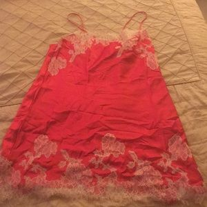 Victoria's Secret Red Satin Slip Dress